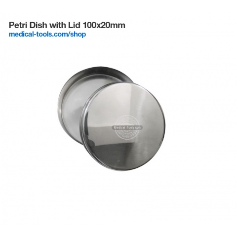 Petri Dish Stainless Steel with lid 60x20mm