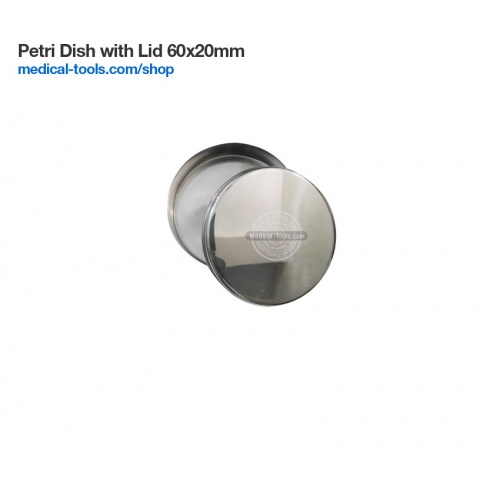 Petri Dish with Lid Stainless Steel