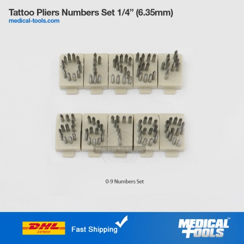 Numbers Set Tattoo Pliers