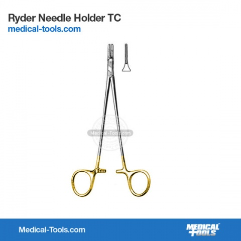 Miniature Gillies Needle Holder 10cm TC