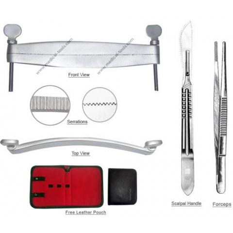 Miniature Schnauzer Ear Cropping Tools Kit